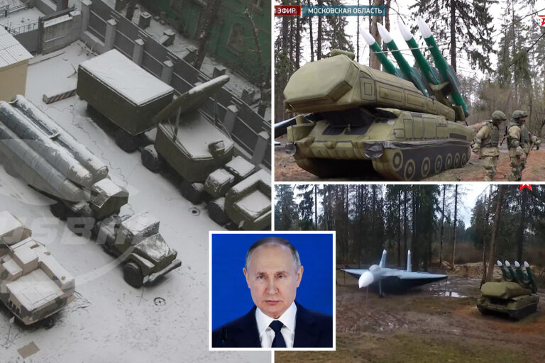Russia deploys 'decoy army' of inflatable tanks, missiles & fighter jets to 'trick the West' amid…