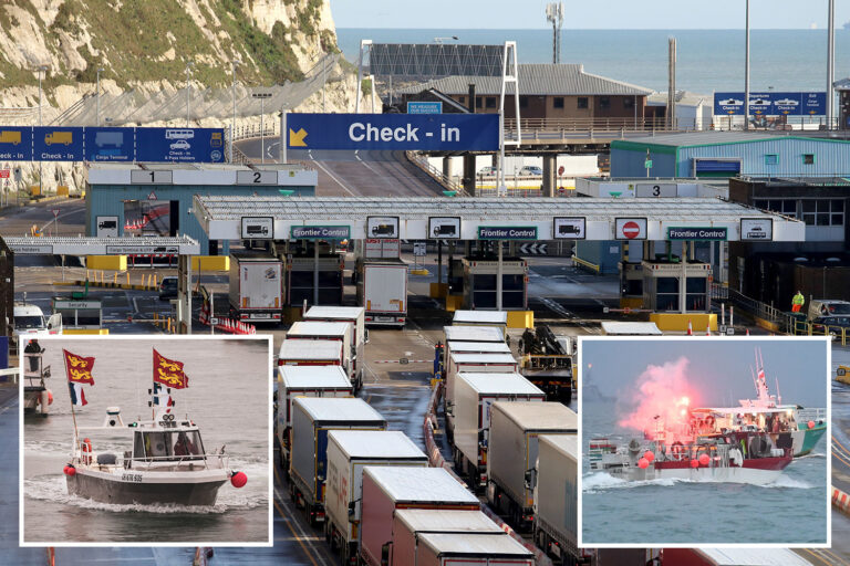 Now French trawlers threaten to blockade Calais to stop British goods arriving in the EU after…
